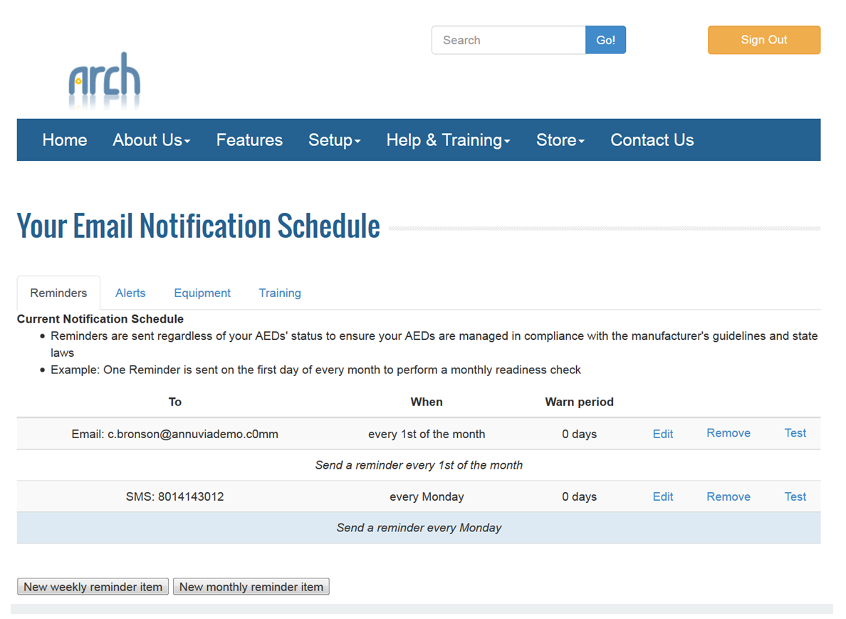 Customizing email notification schedule | Arch Customer Support