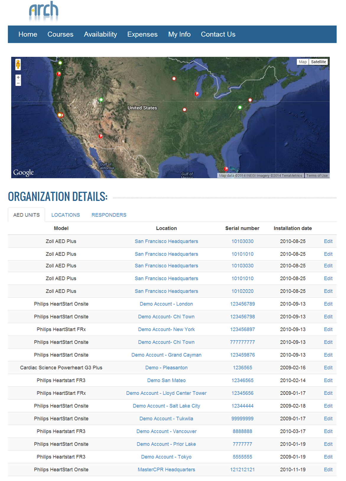 Locations on Map | Arch Customer Support on customer feedback, customer events, customer interaction map, customer product map, customer application form, customer location mapping software, customer value map,