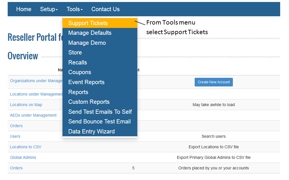 How do I view my Support Tickets