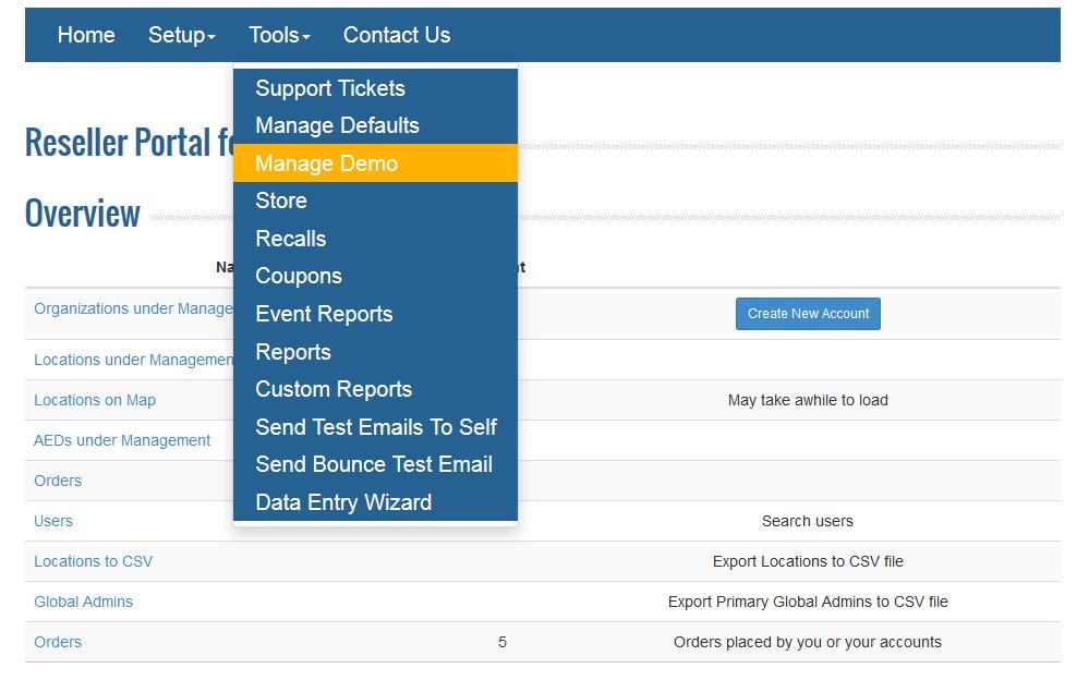 How do I manage my Demo Account?